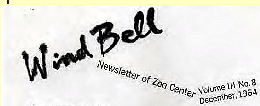 Machine generated alternative text: Newsletter of Zen Center