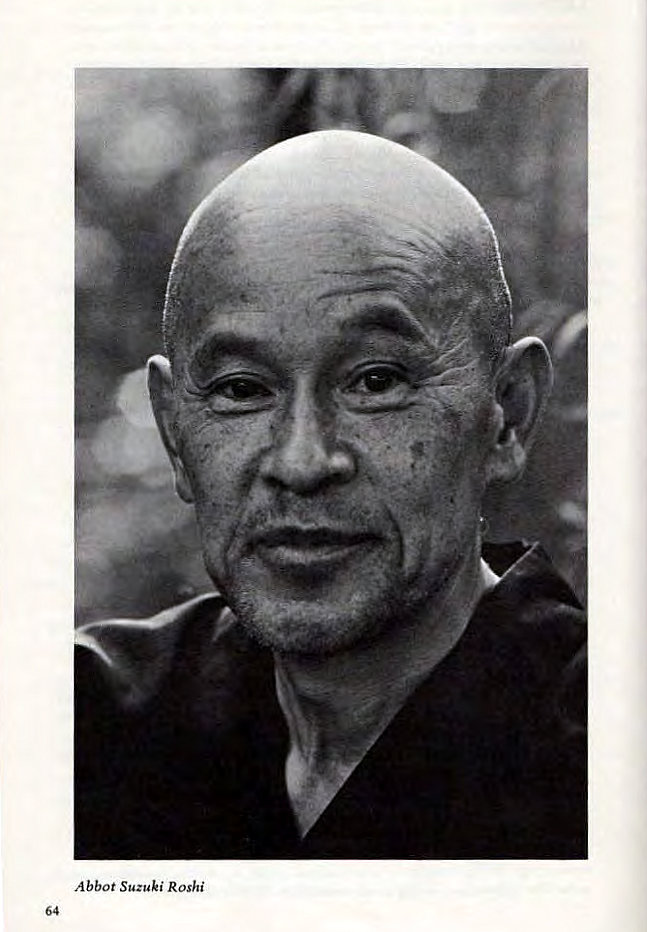 Machine generated alternative text: Abbot Suzuki Roshi